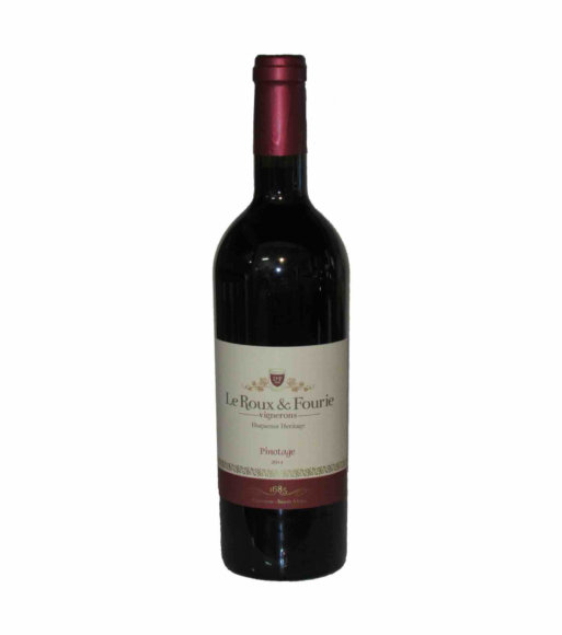 Le Roux en Fourie Pinotage boutique red wine 2014