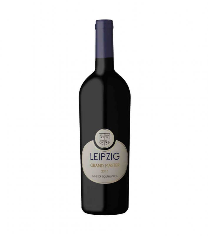 Leipzig Grand Master red vegan wine blend 2015 of Cabernet Sauvignon, Merlot and Malbec
